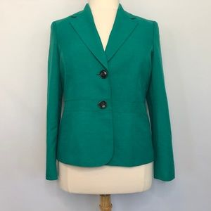 Black Label by Evan Picone Aqua Green Blazer Suit
